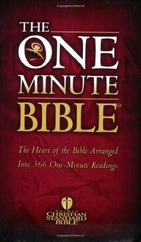 One Minute Bible-Hcsb: The Heart of the Bible Arranged Into 366 One-Minute Readings