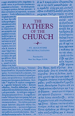 The Retractations (Fathers of the Church Patristic Series)