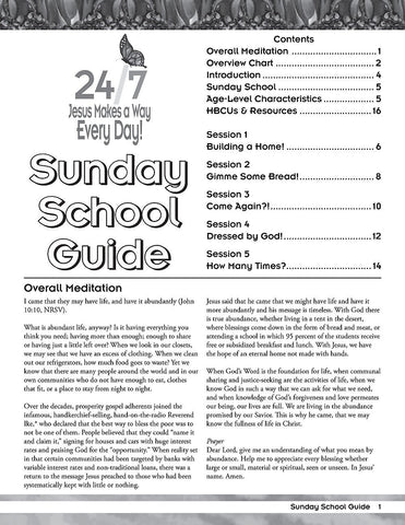 Vacation Bible School (VBS) 2018 24/7 Sunday School Guide: Jesus Makes a Way Every Day! (Hardcover)