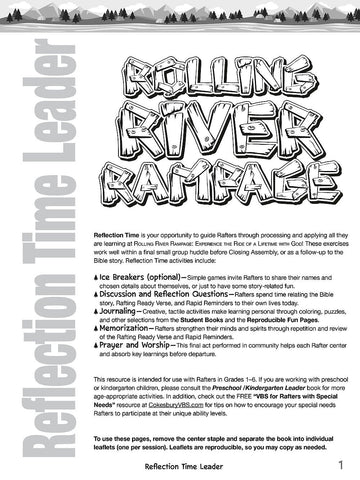 Vacation Bible School (VBS) 2018 Rolling River Rampage Reflection Time Leader: Experience the Ride of a Lifetime with God! (Hardcover)
