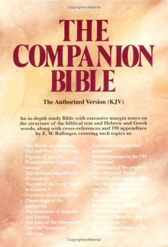 The Companion Bible (Burgundy Bonded Leather, Thumb Indexed)