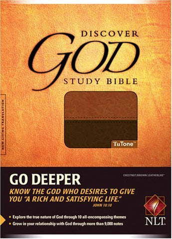 The Discover God Study Bible NLT, TuTone