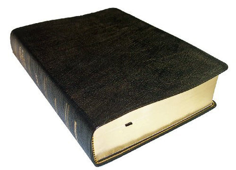Thompson Chain Reference Bible (Style 306black index) - Regular Size NKJV - Genuine Leather