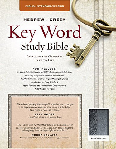 The Hebrew-Greek Key Word Study Bible: ESV Edition, Black Duraflex (Key Word Study Bibles)