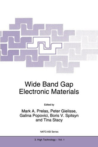 Wide Band Gap Electronic Materials (Nato Science Partnership Subseries: 3)