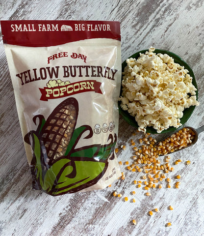 Yellow Butterfly Popcorn, 3 lb (48 oz) pouch: Farm Fresh, Non-GMO Popcorn