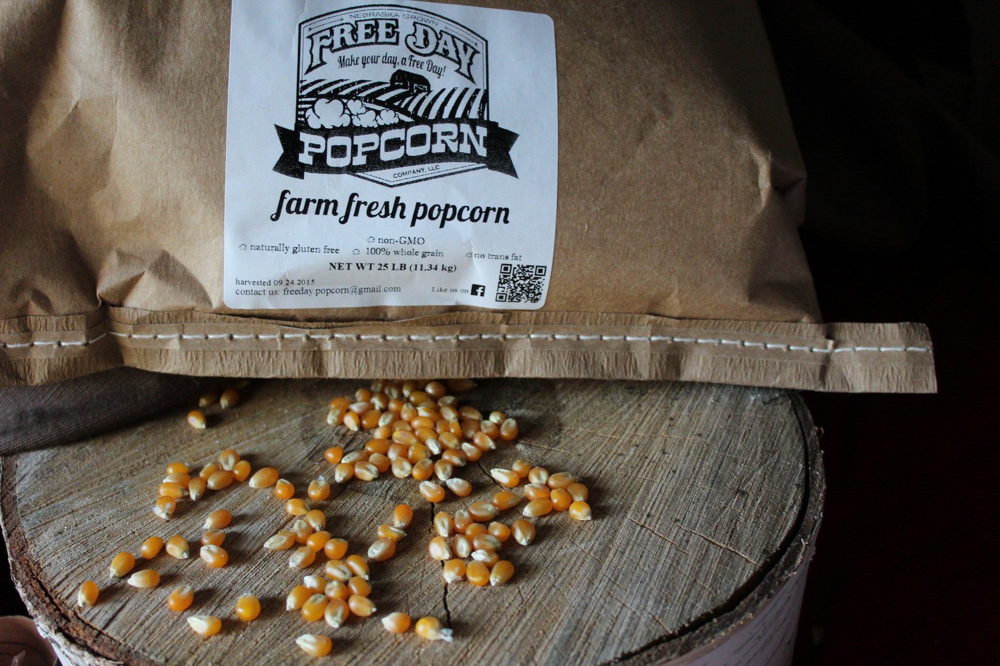 Alpha Yellow Butterfly™, 35 lb Bulk Bag: Farm Fresh Non-GMO Popcorn