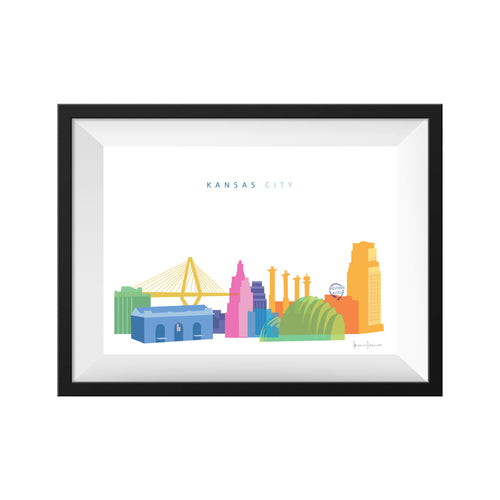 KANSAS CITY MISSOURI PANORAMIC PRINT