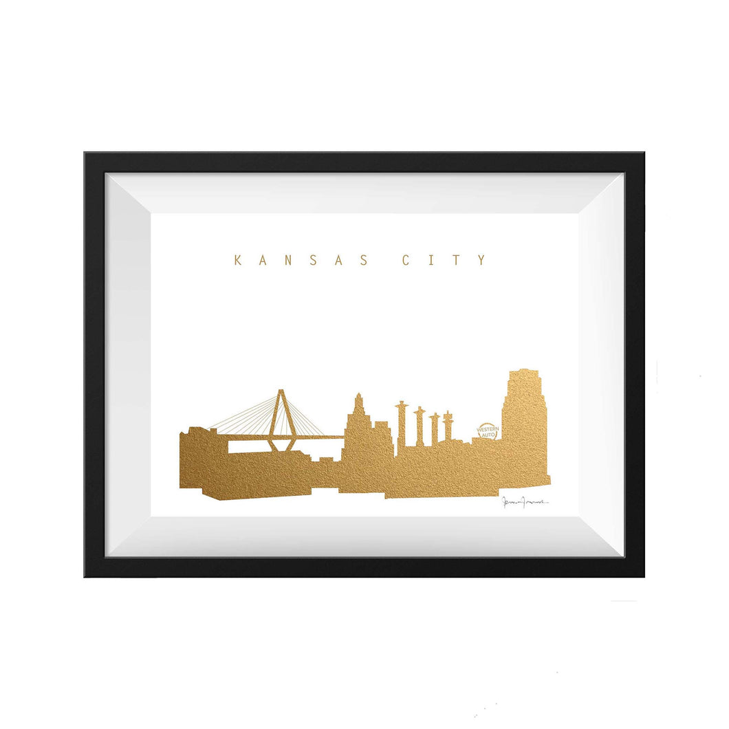 KANSAS CITY PANORAMIC GOLD PRINT