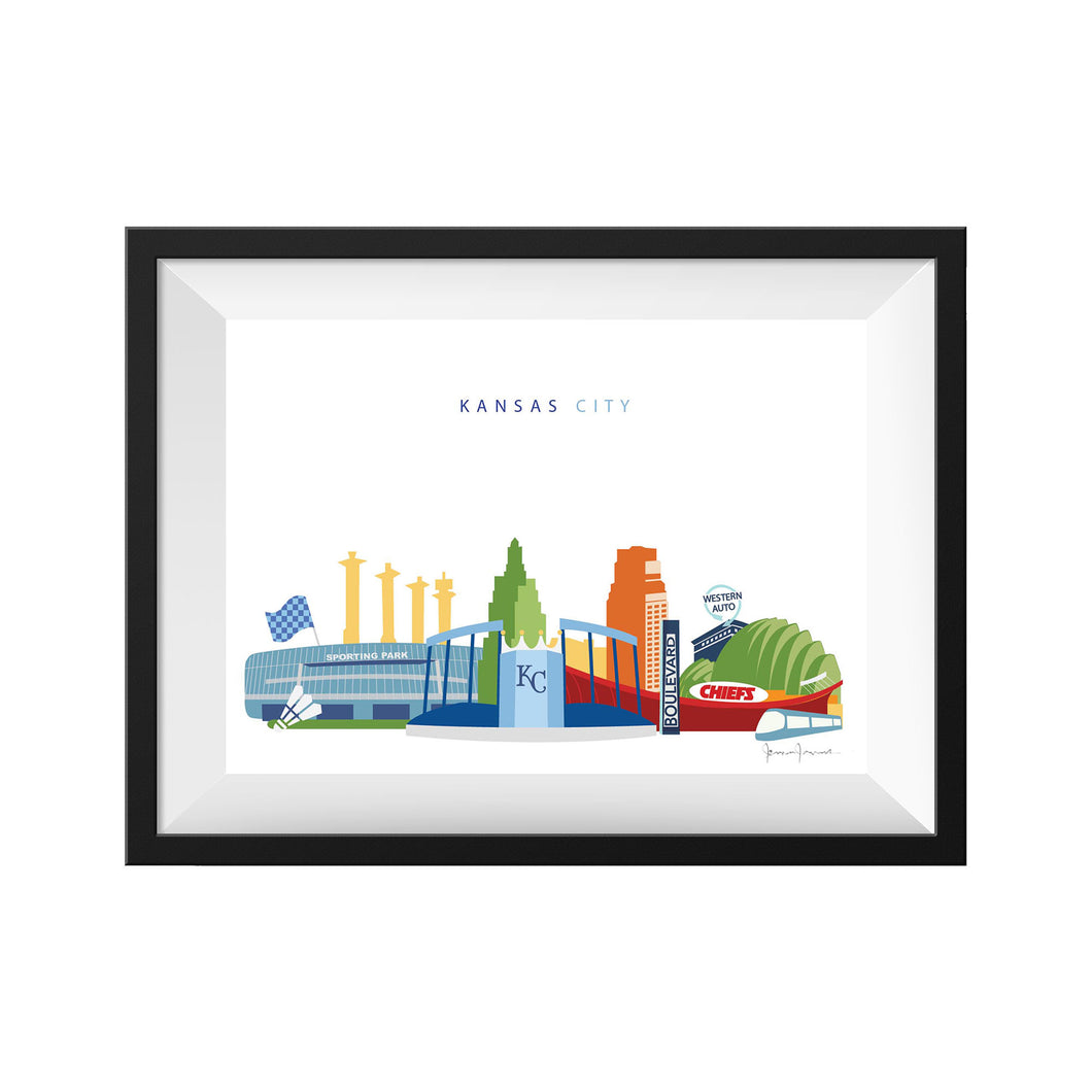 kansas city sports chiefs royals sporting kc skyline