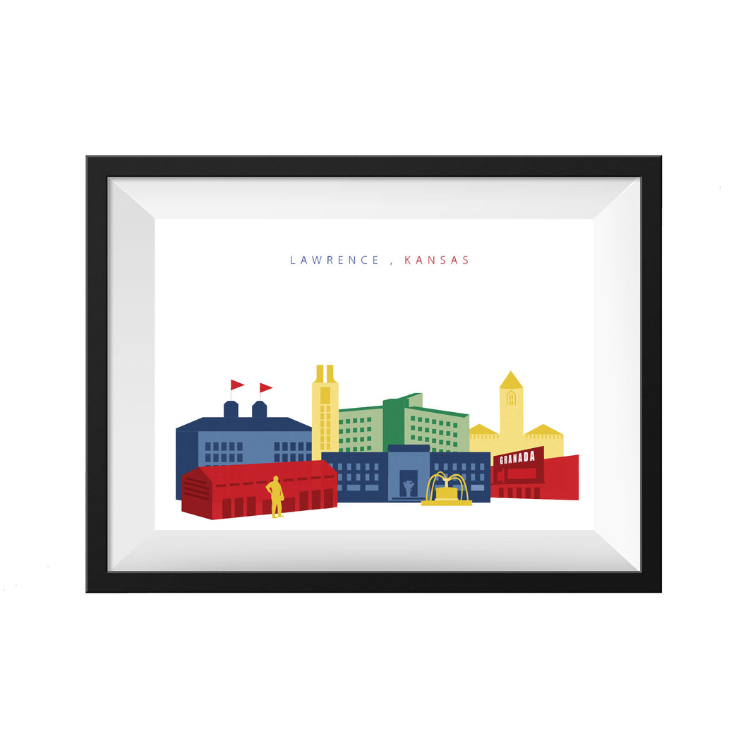 LAWRENCE KANSAS PRINT