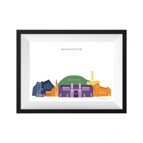 Manhattan Kansas Print