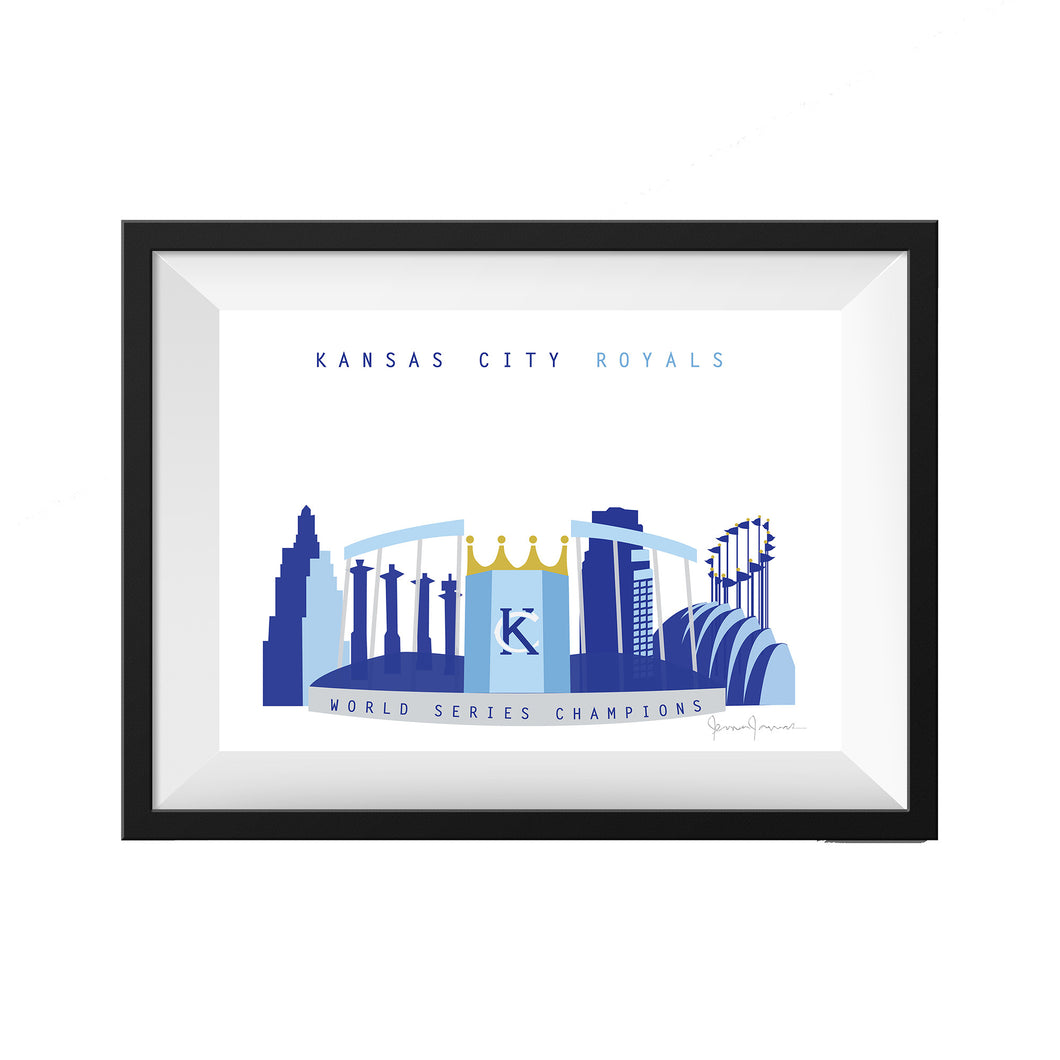 Kansas City Royals World Series Print