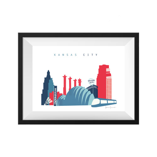 kansas city missouri crossroads streetcar print