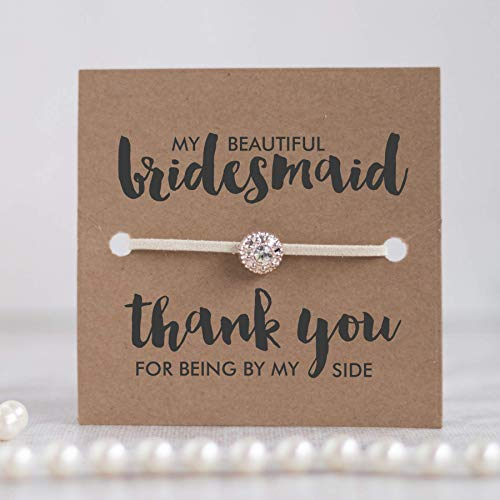 Thank you bridesmaid gifts, Bridesmaids gifts, Thank you for being my bridesmaid jewelry, Ivory - Swanky Collection