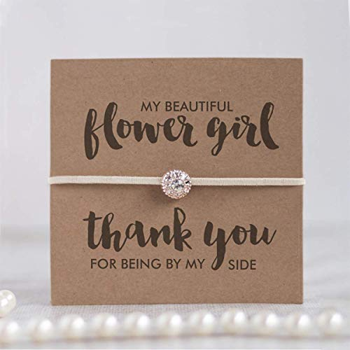 Thank you flower girl gift, Thank you for being my flower girl bracelet, Flower girl gifts, Ivory - Swanky Collection