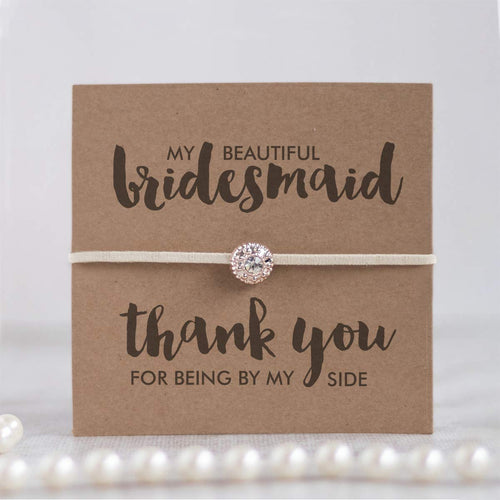 Thank you bridesmaid gifts, Bridesmaids gifts, Thank you for being my bridesmaid jewelry, Ivory friendship bracelets - Swanky Collection