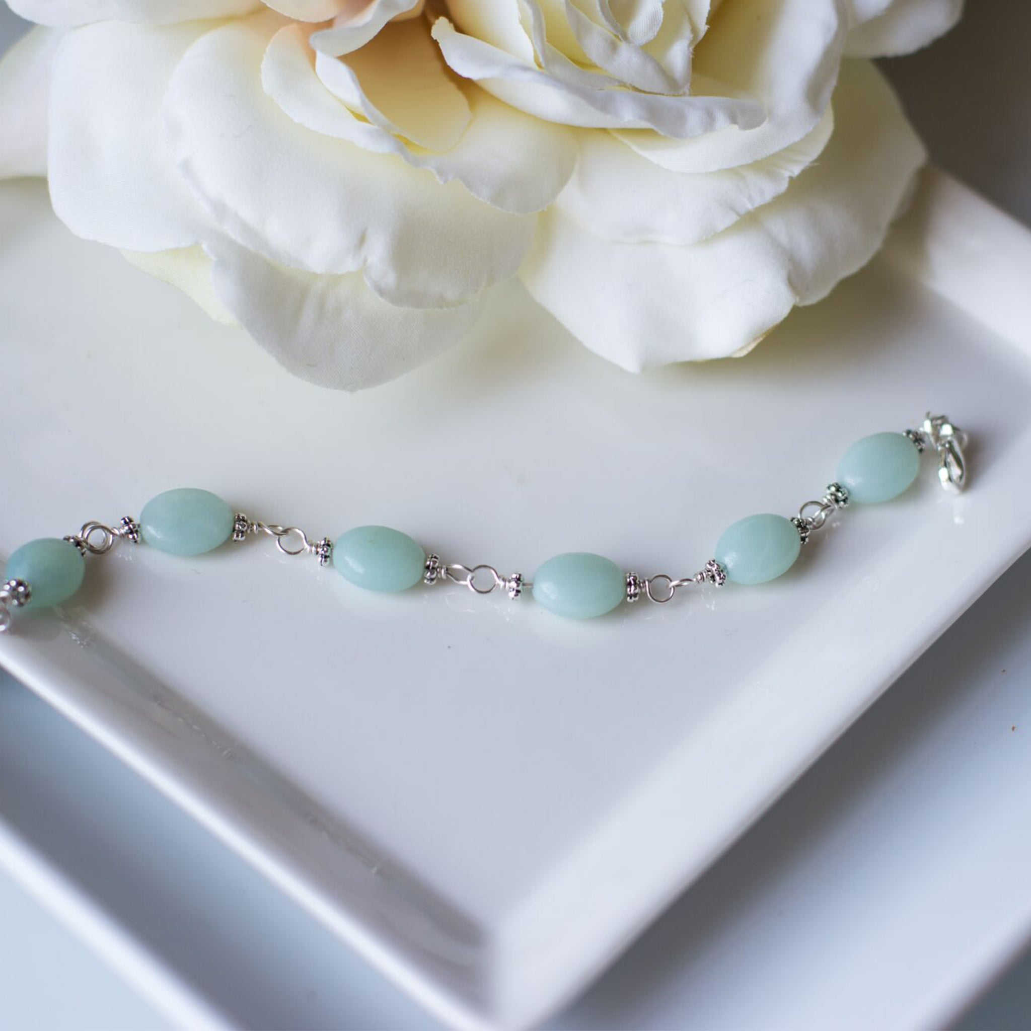 Christmas Gifts for Her - Handmade Amazonite Bracelet - Swanky Collection