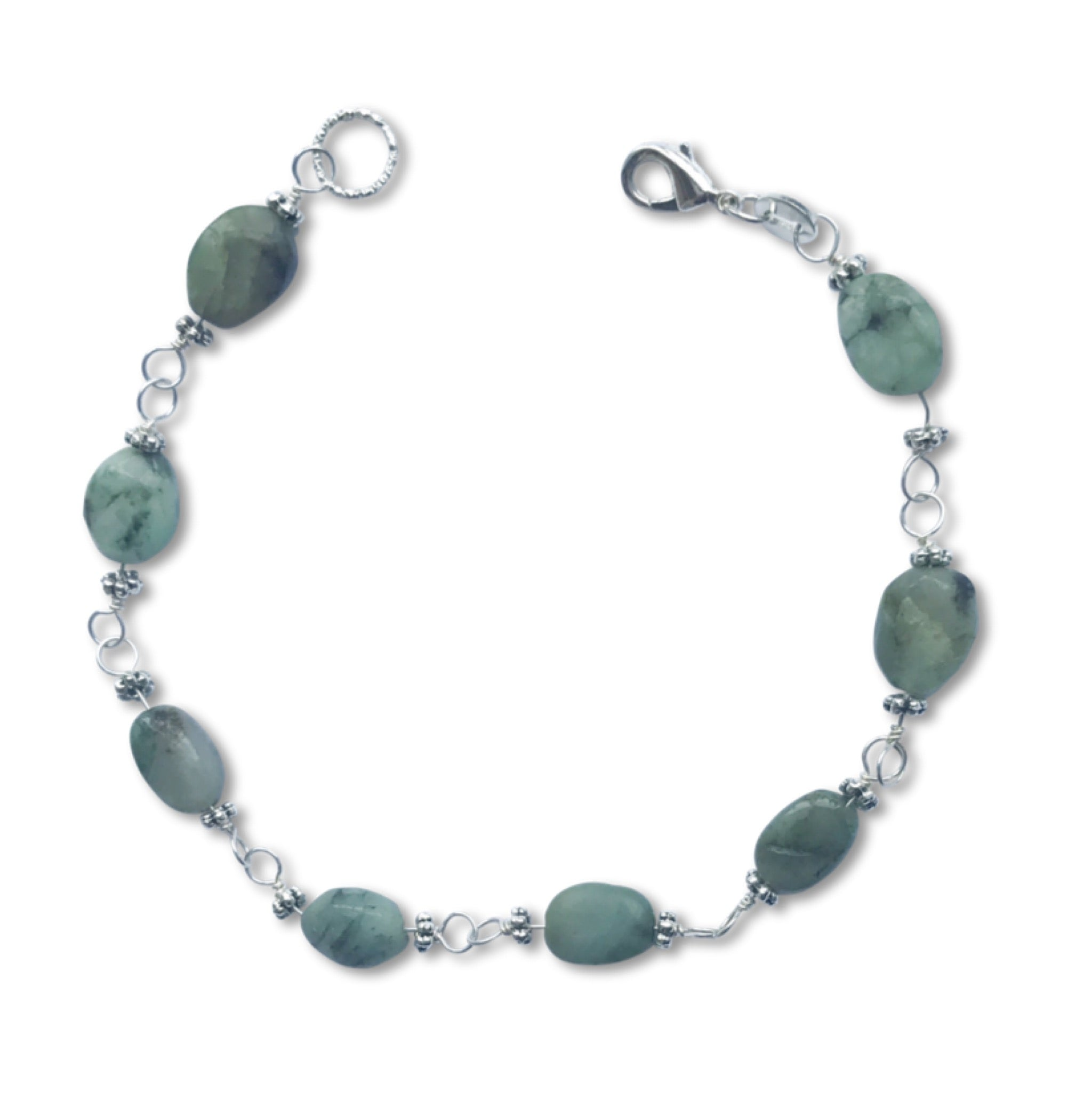 Christmas Gifts for Her - Handmade Emerald Bracelet - Swanky Collection