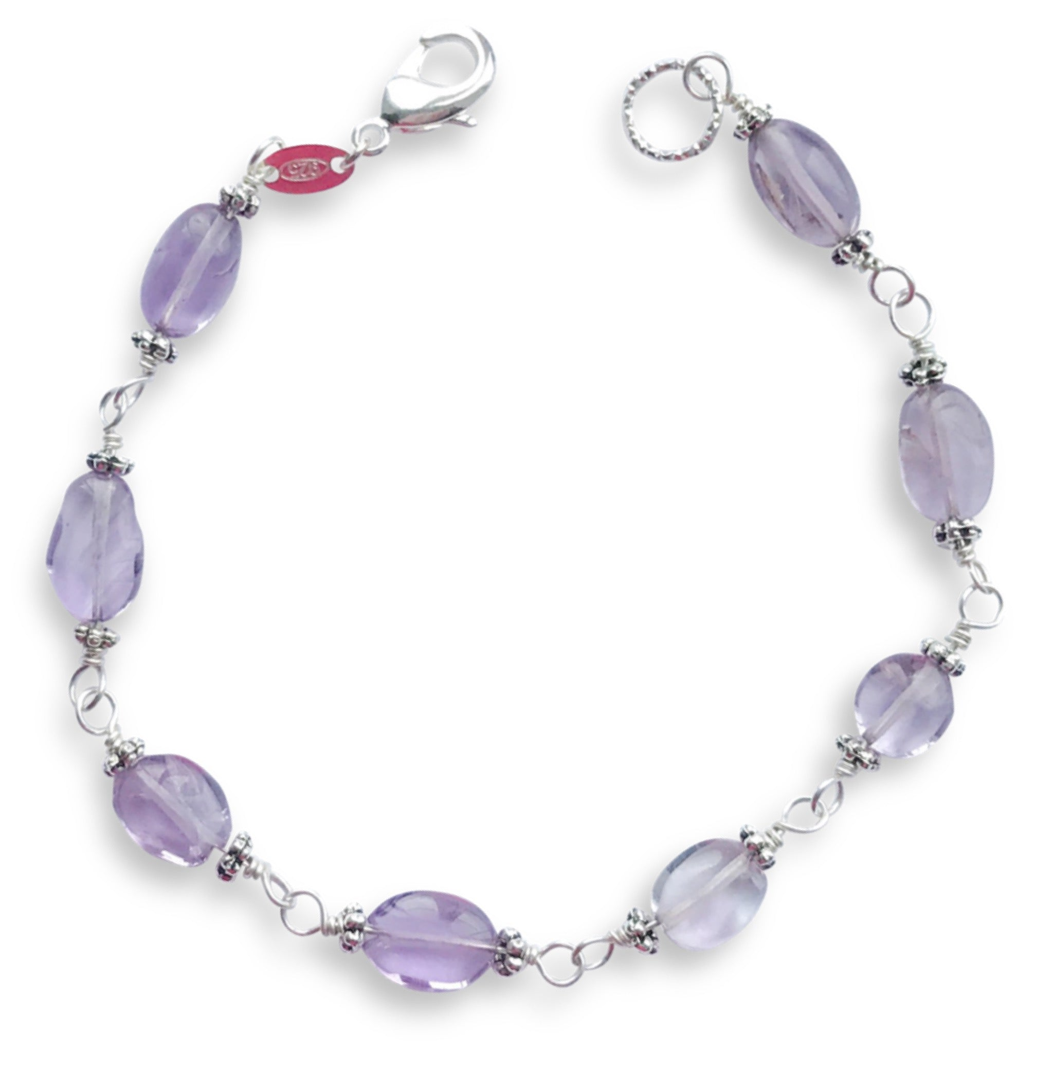 Christmas Gifts for Her - Handmade Amethyst Bracelet - Swanky Collection