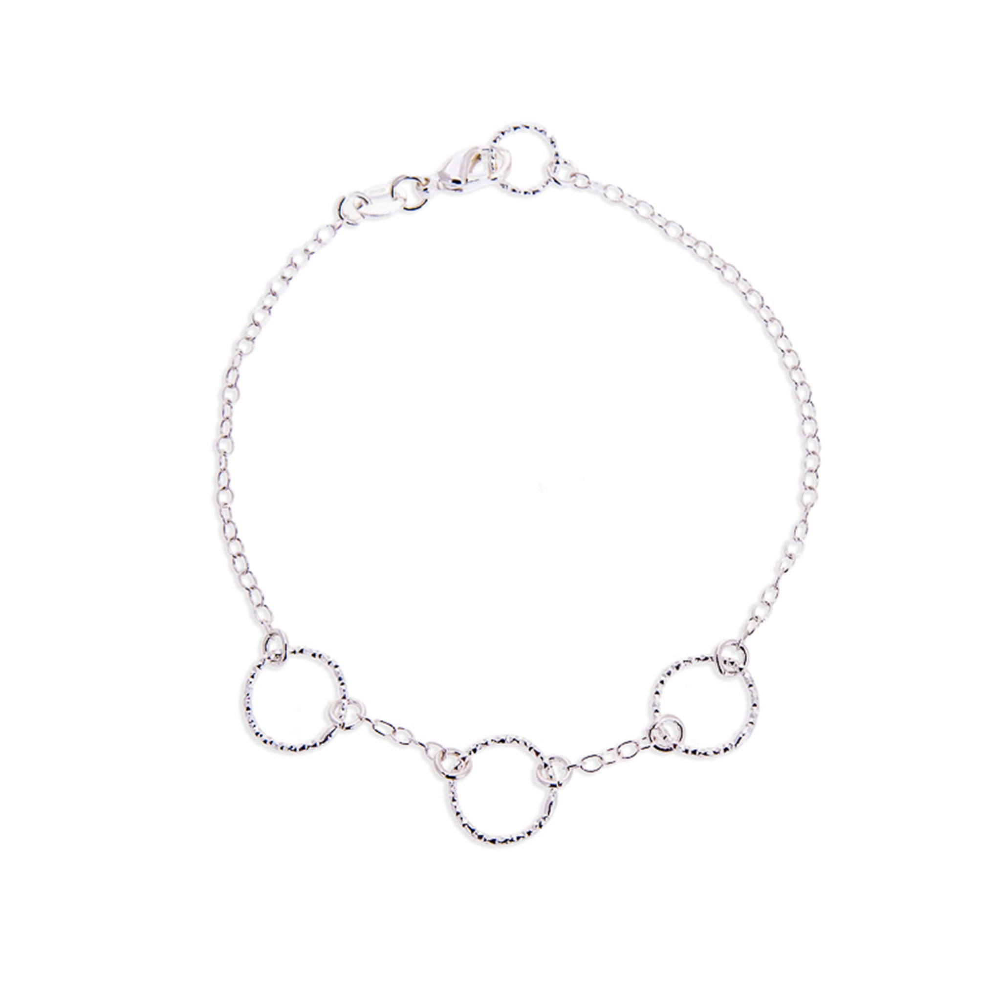 Christmas Gifts for Her - Handmade Sterling Silver Eternity Bracelet - Swanky Collection