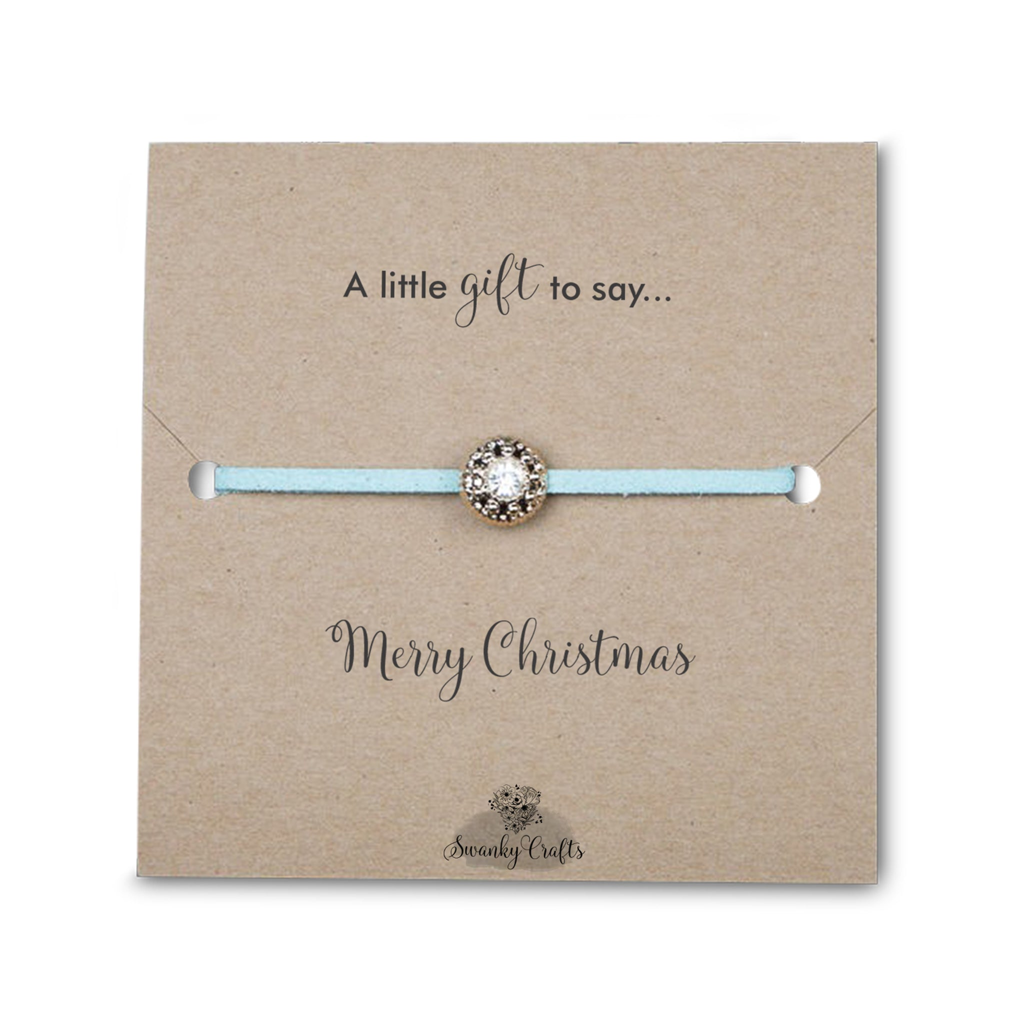 Christmas Gifts for Her - Handmade Sparkling Rhinestone Friendship Bracelets - Swanky Collection
