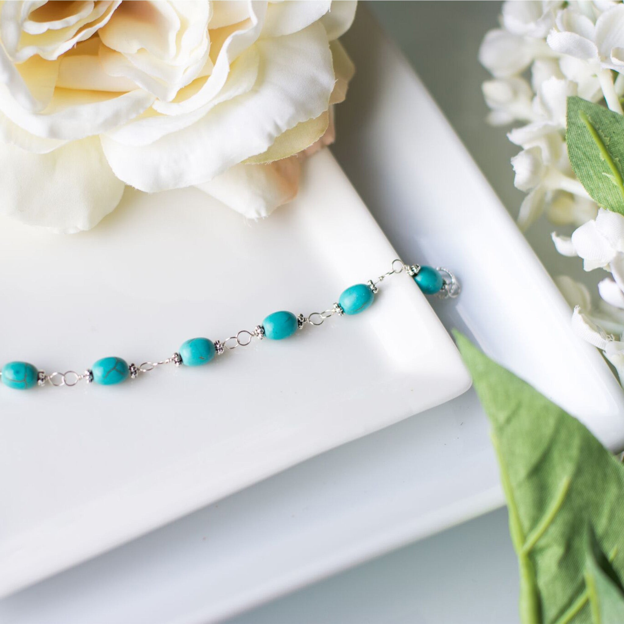 Christmas Gifts for Her - Handmade Turquoise Bracelet - Swanky Collection