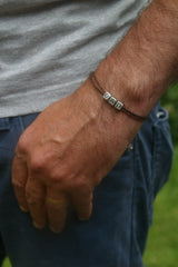 Birthday Gift for Dad - Dad Initial Bracelet - Swanky Collection