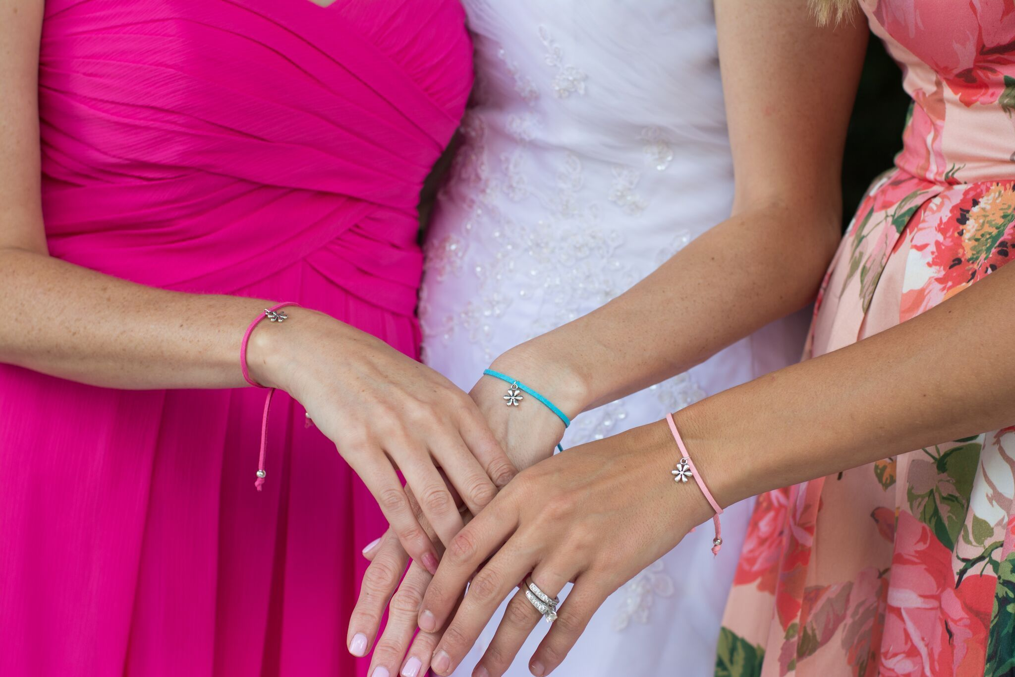 Bridesmaid Proposal Gift - Handmade Flower Friendship bracelet - Swanky Collection