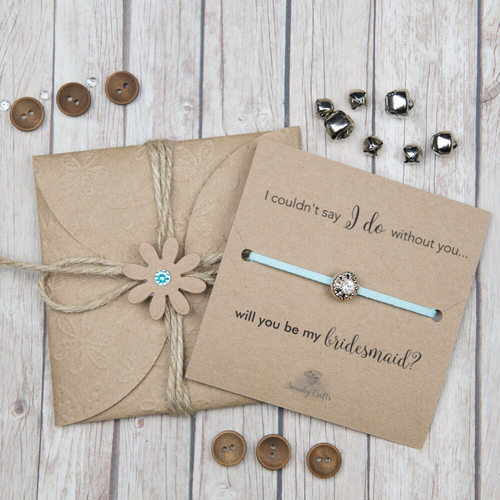 Bridesmaid Proposal Gift - Handmade Sparkling Rhinestone Friendship - Swanky Collection