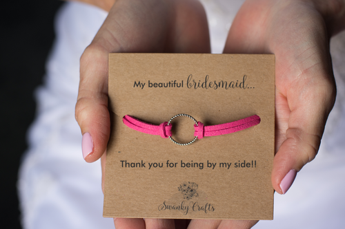 Bridesmaid Thank You Gift - Handmade Eternity Friendship Bracelet - Swanky Collection
