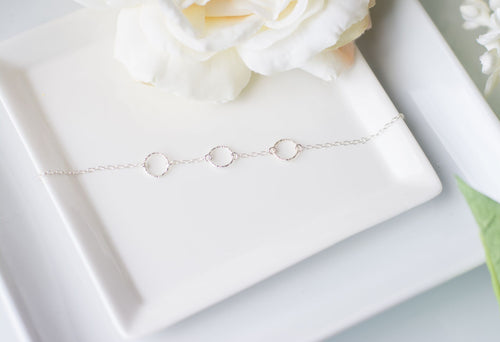 Bridesmaid Thank You Gift - Handmade Sterling Silver Eternity Bracelet - Swanky Collection