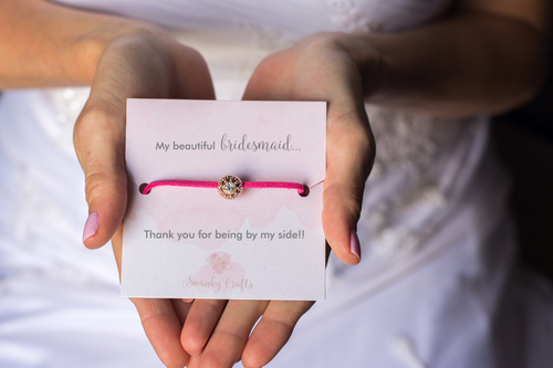 Bridesmaid Thank You Gift - Sparkling Rhinestone Friendship Bracelet - Swanky Collection