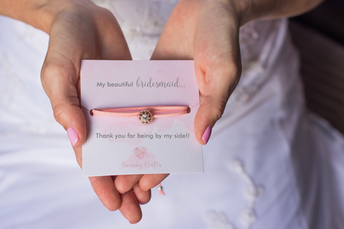 Bridesmaids Thank you Gift - Sparkling Rhinestone Faux Suede Wrap Bracelet - Swanky Collection