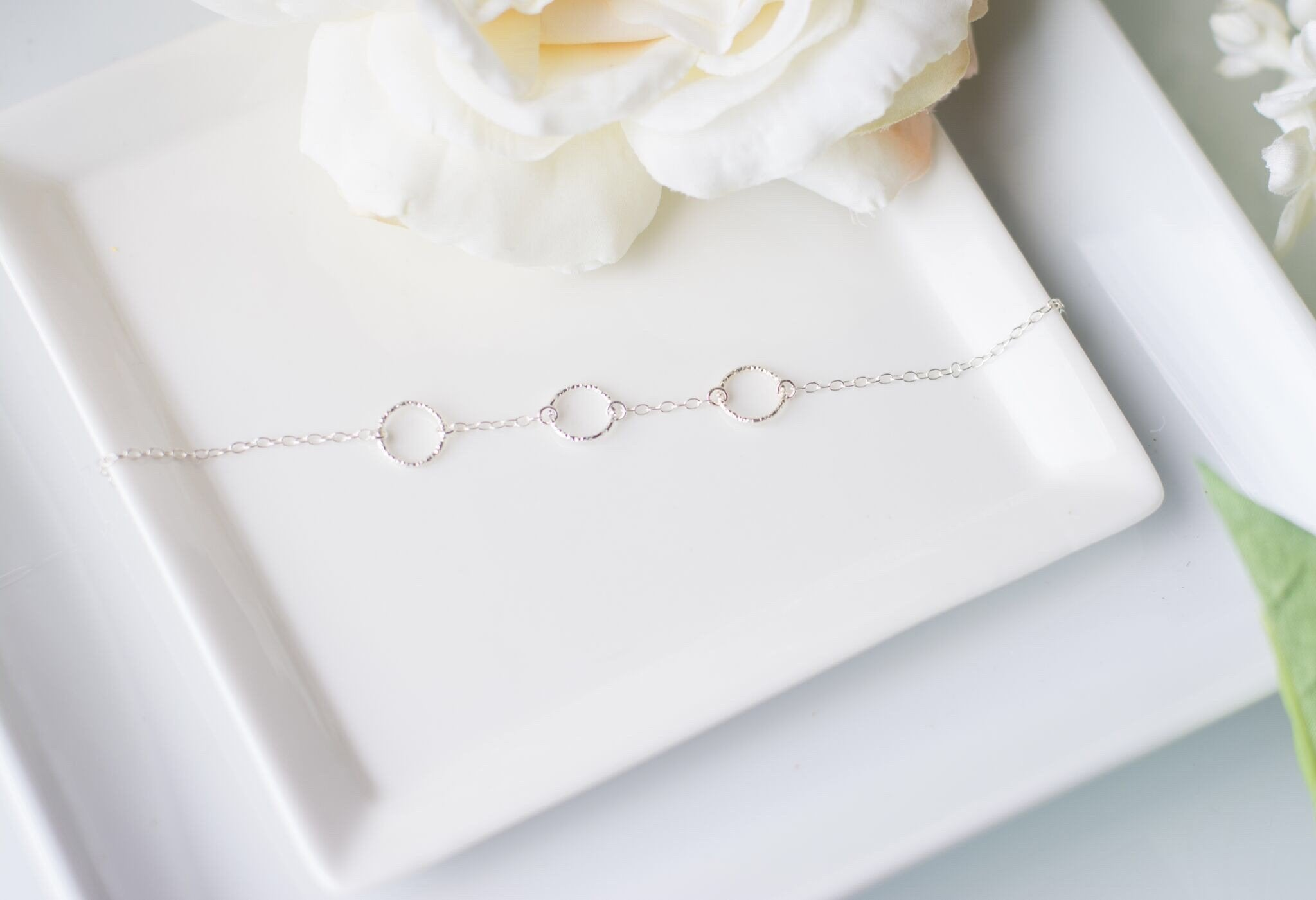 Mother of the Bride Gift - Handmade Sterling Silver Eternity Bracelet - Swanky Collection