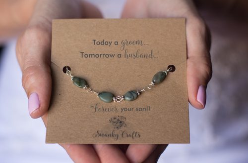 Mother of the Groom Gift - Handmade Sterling Silver Emerald Bracelets - Swanky Collection