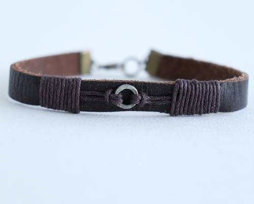 Gift for Dad to say Thank you for walking me up the Aisle - Handmade Leather Bracelet - Swanky Collection