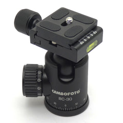 Cambofoto BC-30 Ball Head Mount System for Camera Tripods All Metal 360-Degree Quick Release