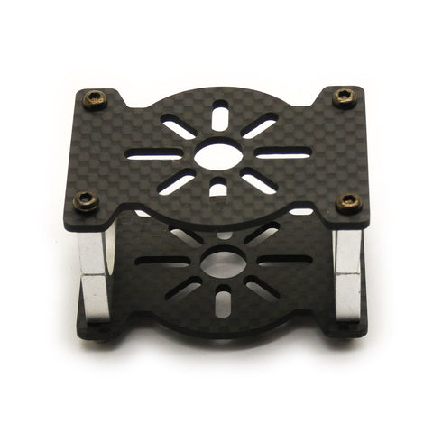 (Set of 4) 3K Carbon Fiber Tube Motor Mount for Large Motors (25mm Clamp Diameter)