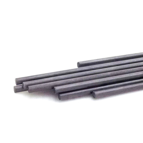 3pcs 2mm Pure Carbon Fiber Rod 500mm Length Solid Lightweight Spar Support