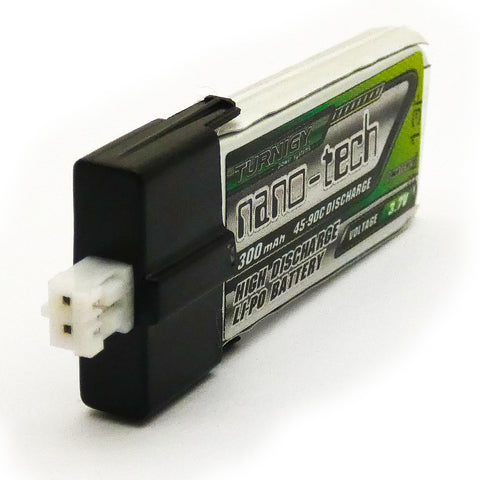 Turnigy Nano-Tech 300mAh 1S LiPo Battery Pack 3.7V 45C 90C FBL100 Blade mCP-x