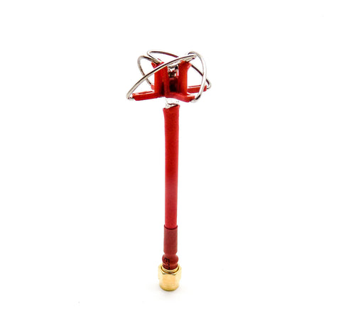RealAcc 4-Leaf 5.8G FPV Antenna 5dbi RHCP Clover SMA Inner Needle (Red)