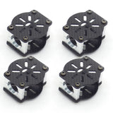 4pcs 16mm 3K Carbon Fiber Tube Motor Mount Over-Under Drone Frame (Black)