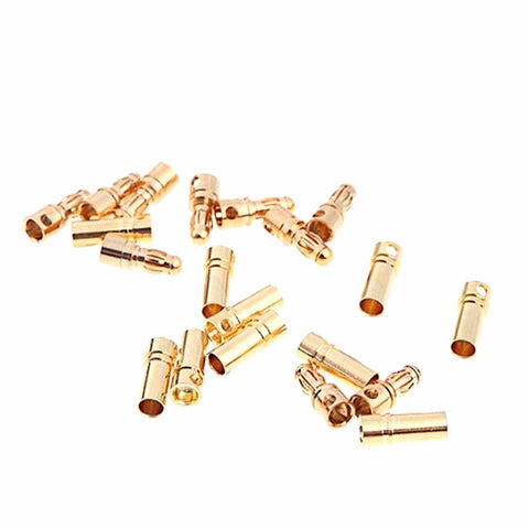 10 Pair 3.5mm Bullet Connector Gold Plated Banana Plug 40A Rated