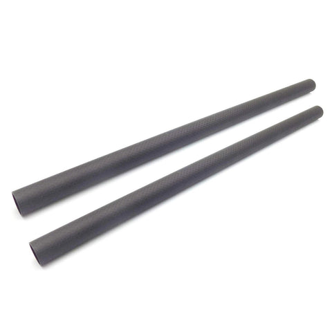 2PCS 22MM 3K CARBON FIBER TUBE 22X20X450MM PLAIN WEAVE MATTE
