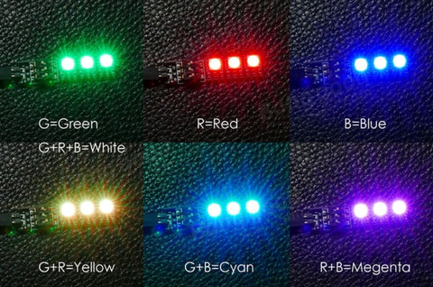 4pcs Matek RGB LED Board Strip for FPV Racing Drones Dip-Select 6-Color 12V 3S