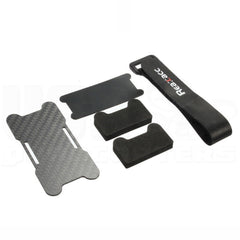 Carbon Fiber Battery Protection Kit with Foam Pads Rubberized Strap