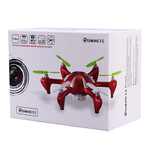 Eachine X6 2.4G 4CH 6 Axis RC Hexacopter With 2MP Camera RTF MODE2