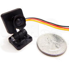 Mini Micro FPV Camera and Adjustable Mount 700TVL 1/4 CMOS 1.8mm Lens (NTSC)