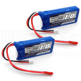 2pcs Turnigy 1000mAh 2S LiPo Battery Pack 7.4V 20C 30C JST Connector Plug